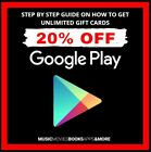 Google Play Gift Cards Discounts Guide Save Money Shopping Savings Up To 20% OFF