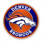Denver Broncos Round Decal / Sticker Die cut Logo Vinyl Football $6.95 USD on eBay