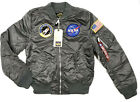 Alpha Industries Men's L-2B NASA Bomber Flight Jacket,Gunmetal