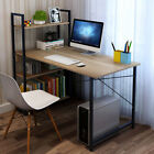 Corner Computer Desk - Home Office PC Laptop Table With 4 Shelves Corner Desk UK