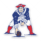 New England Patriots Vintage Decal / Sticker Die cut Vinyl Football Logo for Car $5.45 USD on eBay