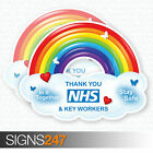 Thank You NHS Rainbow Sticker Shop & Home Window Car Self Adhesive Vinyl
