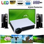 1080p Full HD Mini Portable LED Projector Home Cinema Theater Multimedia HDMI WF