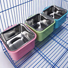 Stainless Steel Pet Feeder Pet Bowl Food Clean Removable Coop Cage Dog Food Bowl