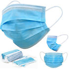 10/20/50/100 Pack 3 Ply Disposable Blue Face Mask Ear loop Mouth Cover