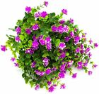 4 Bundles Artificial Flowers for Decoration UV Resistant No Fade Faux 6 color