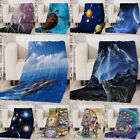Digital Printed Diamond Fleece Throw Blanket Rug Warm Adult Baby Kids Size