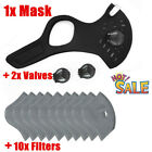 Cycling Mask Half Face with Filter Dual-valve Breathable Bike Mask Anti droplets