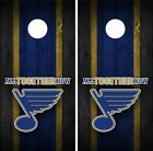 St. Louis Blues Cornhole Wrap Decal Stickers Vinyl Gameboard Skin Set JC096 $39.55 USD on eBay