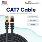 CAT7 Ethernet Cable LAN Copper Patch Cord S/FTP Shielded Wire RJ-45 6-200FT Lot
