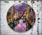 Venice Painting Artwork Wall Clock Home Office Bedroom Living Room Kitchen Decor
