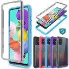 For Samsung Galaxy A51 Phone Case Slim Clear Cover W/ Built-in Screen Protector
