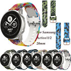 For Samsung Galaxy Watch Active 1 2 Replacement Soft Silicone Sport Wrist Band image