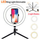 "10"" LED Ring Light Light Stand Kit Dimmable Photo Studio Selfie Phone Live Lamp"