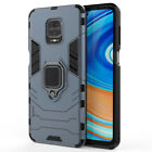 For Xiaomi Redmi Note 9S 9 Pro Max Rugged Armor Ring Holder Kickstand Case Cover