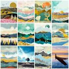 Sunrise Mountain Oil Painting Coloring By Numbers Landscape Wall Art Home Decors