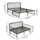 Queen/Full Size Bed Frame Metal Platform Foundation With Headboard Black