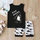 Toddler Baby Kid Boy Shark Outfit Summer Sleeveless Vest Shorts 2PCS Clothes Set