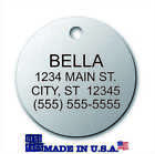 Dog tags personalized Dog Cat Pet ID FREE Engraving FREE Shipping MADE in USA