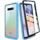 For LG Stylo 6 Shockproof Clear Slim Case Cover With Built-in Screen Protector