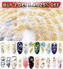 3D Rhinestone Metal Frame Nail Art Decoration Gold Nail Rivet Studs Manicure $3.59 USD on eBay