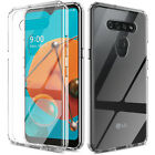 For LG K51/Reflect Phone Case Clear Shockproof Slim Cover/Glass Screen Protector