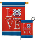 Coast Guard Love Garden Flag Armed Forces Small Decorative Gift House Banner