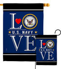 US Navy Love Garden Flag Armed Forces Small Decorative Gift Yard House Banner
