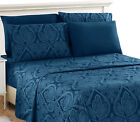 Deep Pocket 6 Piece Bed Sheet Set 1800 Count Egyptian Comfort Paisley Sheet Set