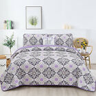 4 Piece Quilt Set Queen King Size Down Alternative Reversible Quilt Bedding Sets