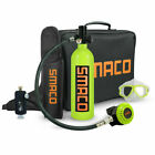 Upgraded SMACO Mini Scuba Tank Diving Equipment 1L Oxygen Cylinder Hand Pump US