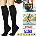 Flight Socks Unisex Miracle Travel Compression Anti Swelling Fatigue DVT Support