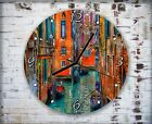 Colorful Venice Painting Wall Clock Home Office Bedroom Living Room Kitchen Deco