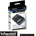 INFAPOWER BATTERY CHARGER + Rechargeable Batteries AA AAA C D 9V  Pre-Charged