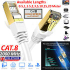 RJ45 CAT8 0.5M-20M Ethernet Network SSTP 40 Gbps Patch LAN Lead Cable...
