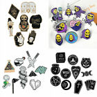 Punk Creative Skeletor Skull Witch Totems Brooches Lapel Enamel Pins Badge Gifts image