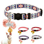 Nylon Cat Collar Breakaway Personalized Collars for Cats Pet Kitten with Bell