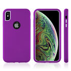 FOR IPHOHE XS / X DUAL PROTECTION MAX SERIES 2 TONE TPU PC COVER HYBRID CASE