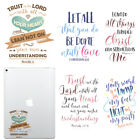 Quotes Design Decal Stickers for Apple iPad Tablet / Macbook Pro Air 13