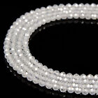 Clear Zircon CZ Faceted Round Beads 2mm 3mm 4mm 15.5