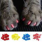 Pack of Silicone Soft Pet Paw Dog Cat Kitten Claw Nail Caps Cover w/Glue
