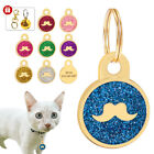 Cute Beard Personalized ID Tags Cat Tag Puppy Kitten Name Custom Engraved Steel