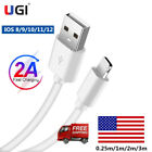 US USB Data Sync IOS Charger Charging Cable Cord For iPhone 5 5S 6 7 8 X XS SE