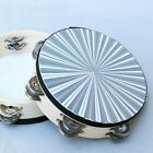 Tambourine Reflective Laser Double Row Metal Jingle Wood Frame Construction New