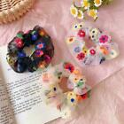 Fashion Women Colorful Hair Rope Embroidery Flower Bands Hair Elastic Y0v3