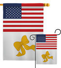 US Yellow Ribbon Garden Flag Armed Forces Service Decorative Yard House Banner
