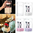 Clear Acrylic Dustproof Cosmetic Organizer Makeup Brush Storage Case Holder Box