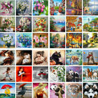 2020 New Arrival DIY Paint By Number Kit Digital Oil Painting Artwork Home Decor
