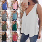 Plus Size Womens T shirt Sexy Sleeveless V Neck Tops Summer Beach Casual Shirts