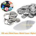 300 Sets Metallic Button Badge Parts Material For Pin Maker Machine 25/32/37mm